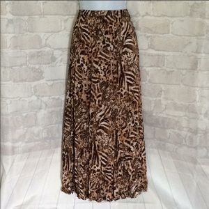 Chico's Animal Print Maxi skirt